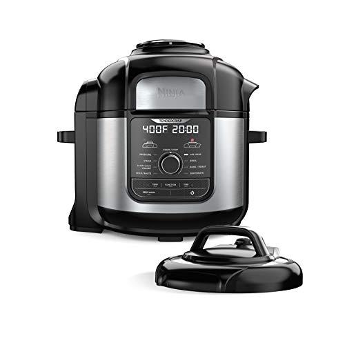Amazon - Ninja FD401 Foodi 8-Quart 9-in-1 Deluxe XL Pressure Cooker, Asar, deshidratar, cocinar a fuego lento, freidora, acabado inoxidable