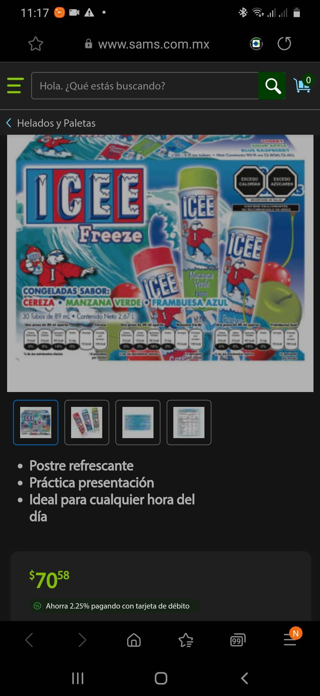 Sam's Club: Congeladas ICEE Diferentes Sabores 30 pzas