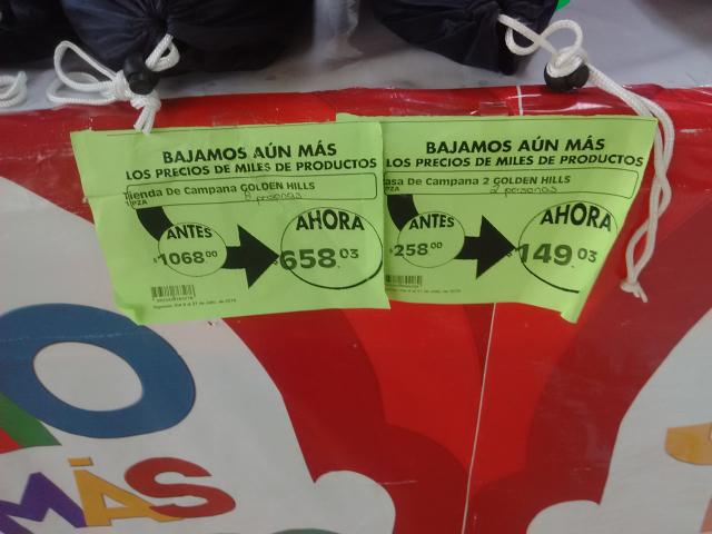 Comercial Mexicana Mega: Casa de campaña Golden Hills para 2 personas a $149.03, para 8 $658.03