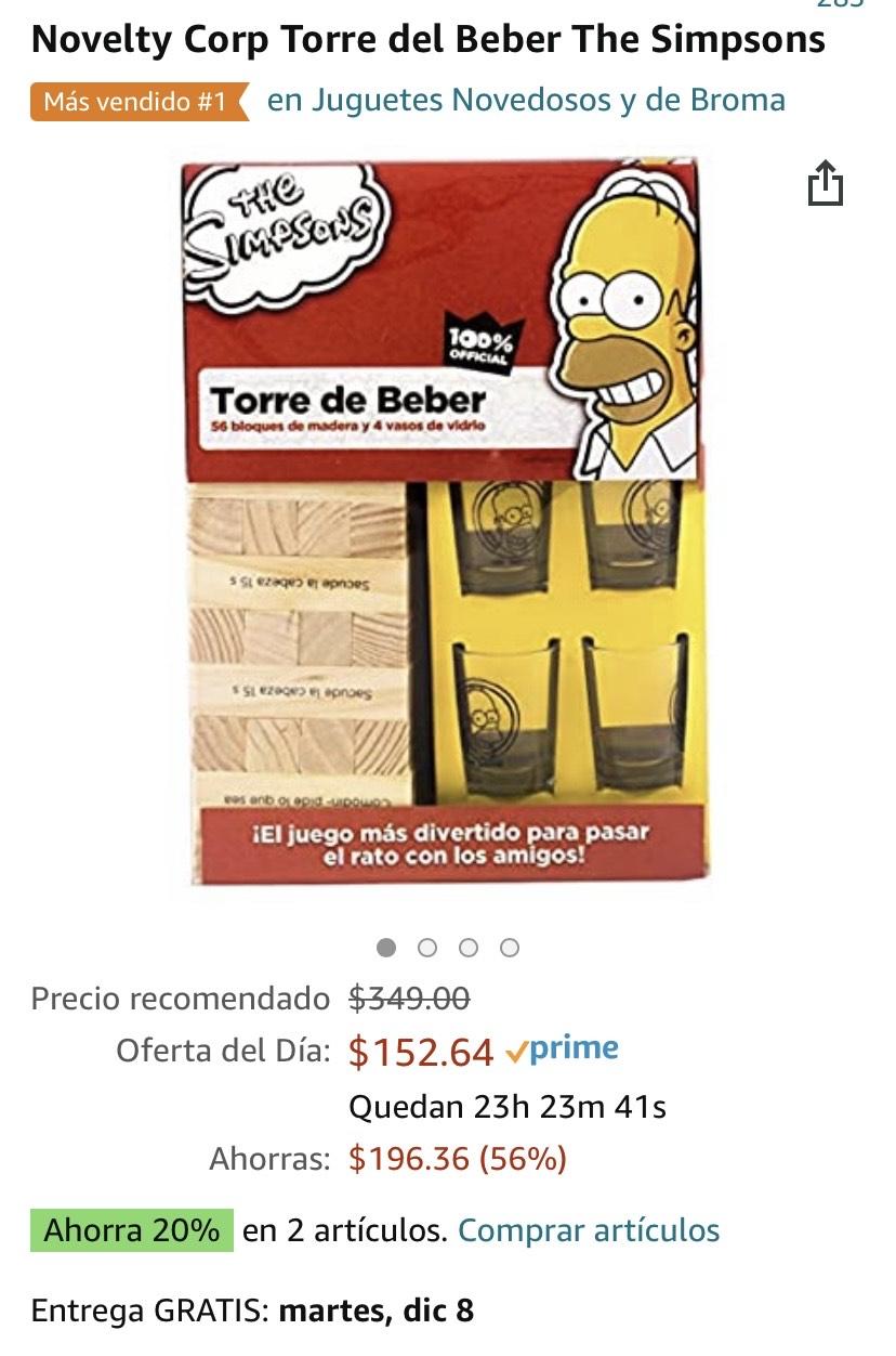 Amazon: Novelty Corp Torre del Beber The Simpsons