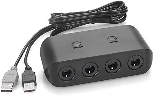 Amazon: Adaptador de 4 Controles Nintendo GameCube para Nintendo Switch / WiiU / PC