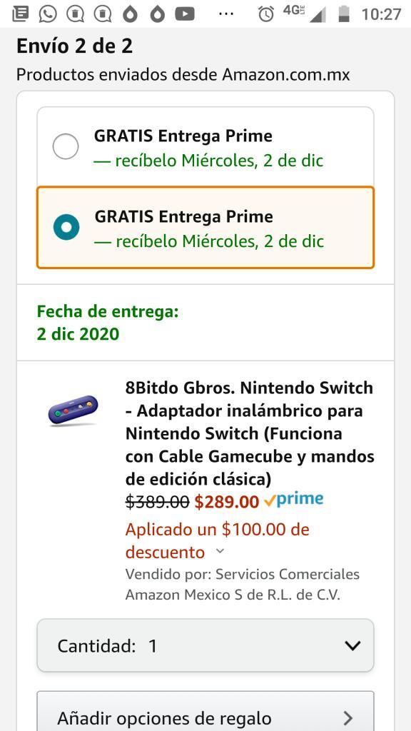 Amazon: 8bitdo Gbros adaptador Nintendo inalámbrico