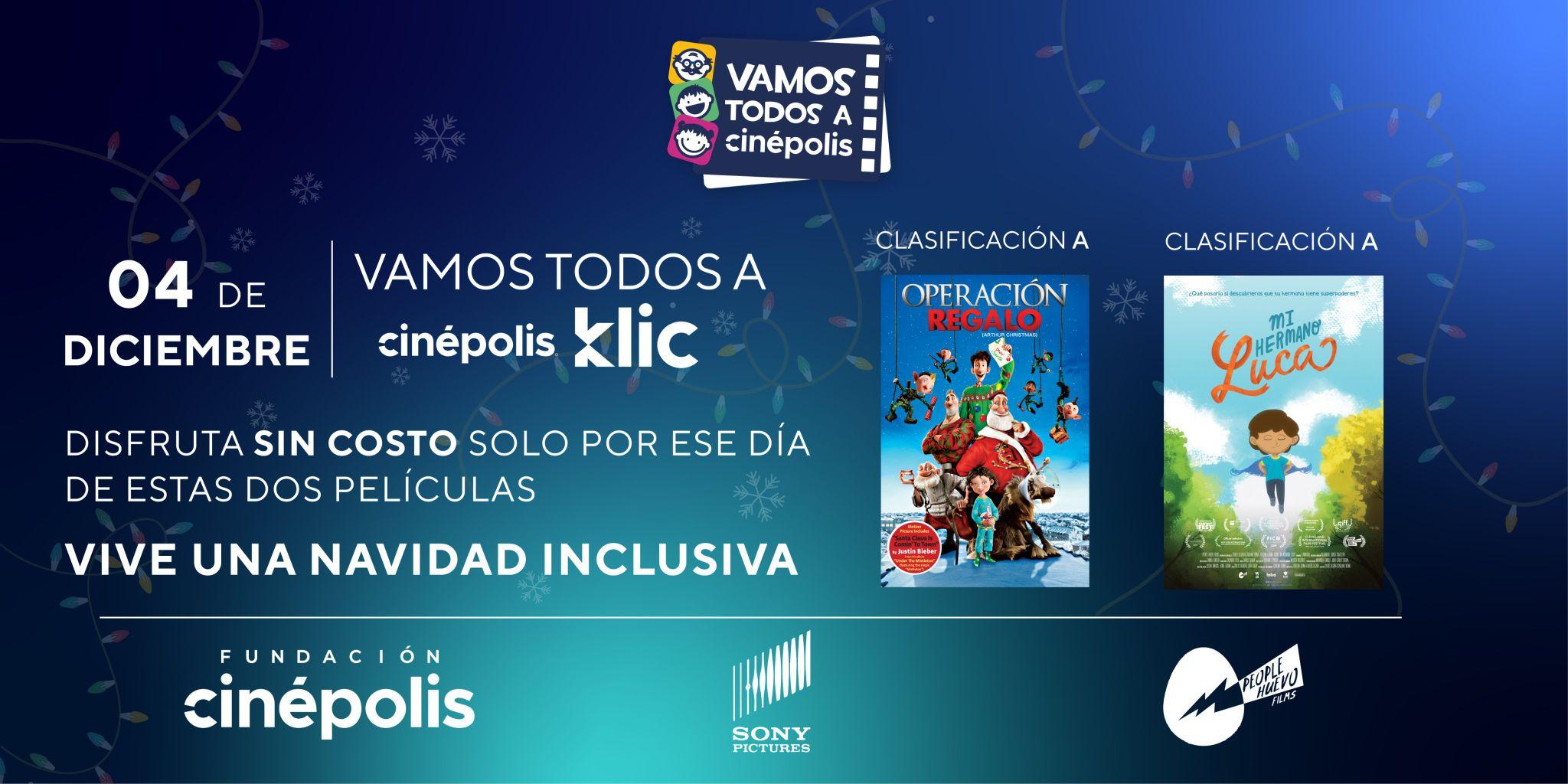 Cinépolis Klic: 2 Películas sin costo 4 de diciembre