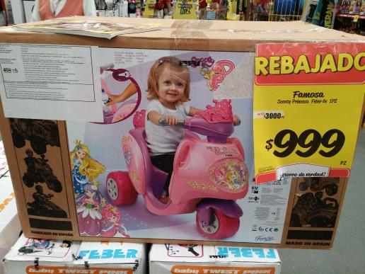 HEB: Scooter eléctrico Princesa de Feber de $3,000 a $999