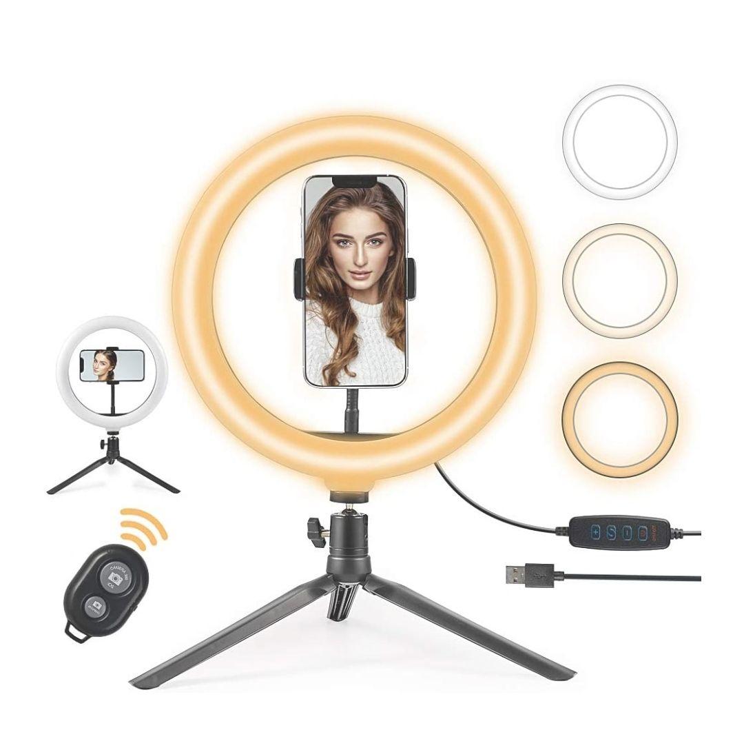 Amazon: Anillo de luz para selfie de 10 pulgadas con soporte para trípode