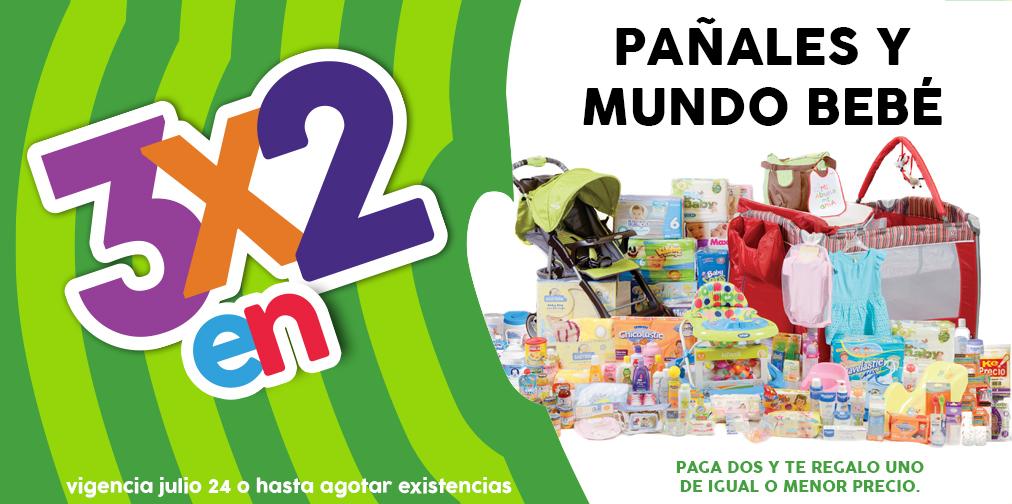 Promoción de Julio Regalado 2016 en Soriana y Comercial Mexicana: 3x2 en pañales y todo para bebés