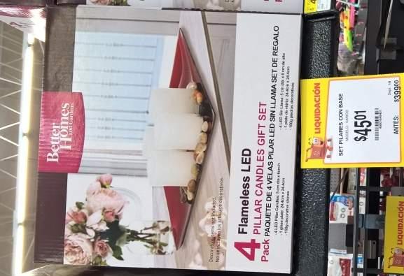 Walmart Deportiva Villahermosa: Velas LED; Tabla de Quesos