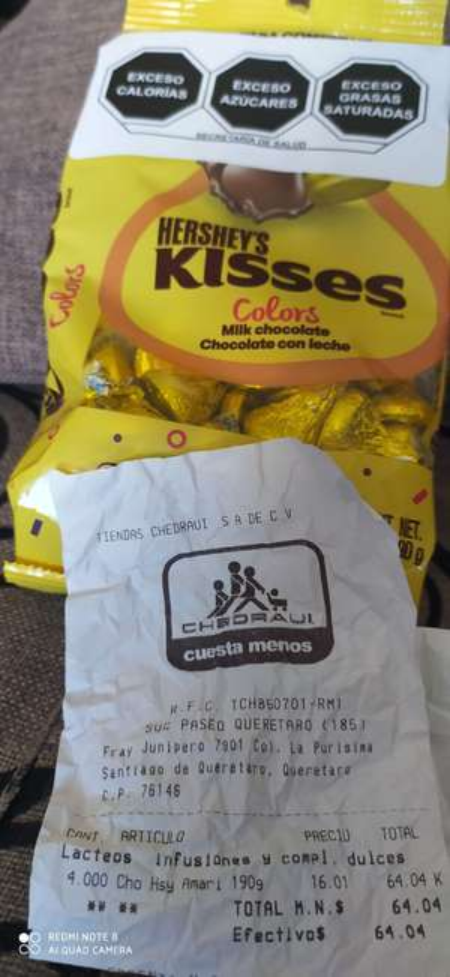 Chedraui Hershey's Kisses