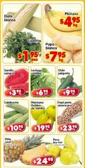 Frutas y verduras en HEB: elote y cilantro a $1.95 la pieza c/u y más