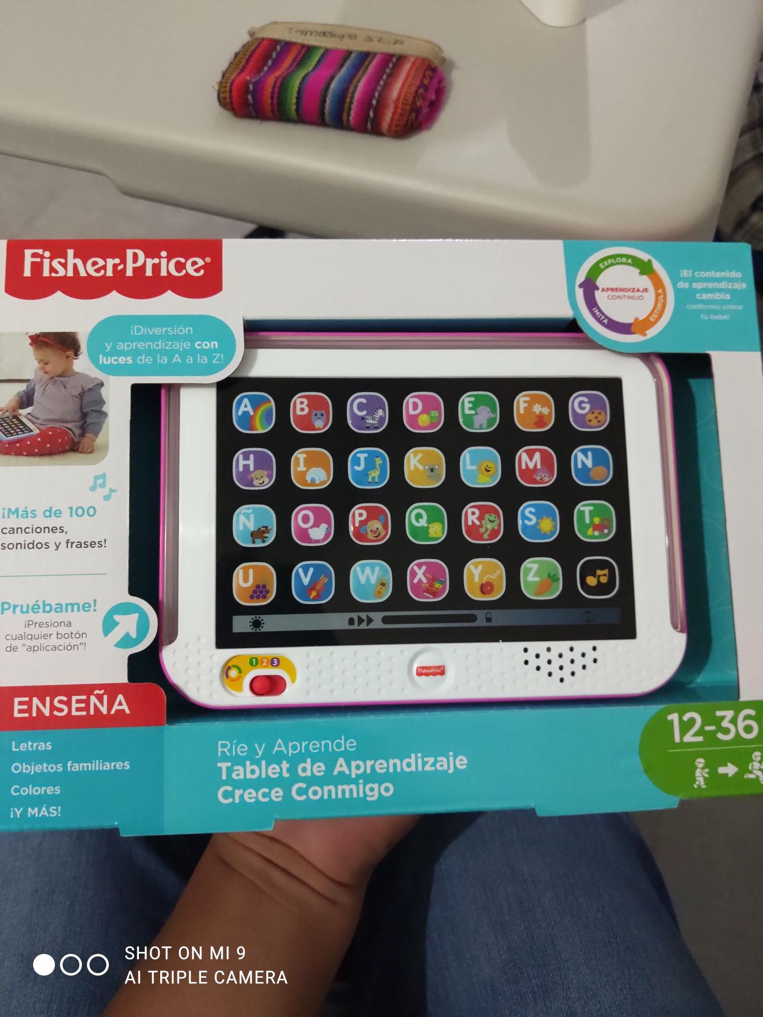 Chedraui: juguete Tablet de aprendizaje Fisher price