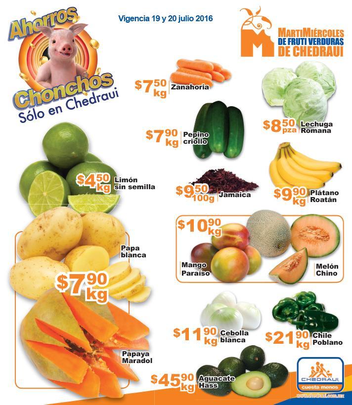 Chedraui: ofertas de martimiércoles 19 y 20 de julio