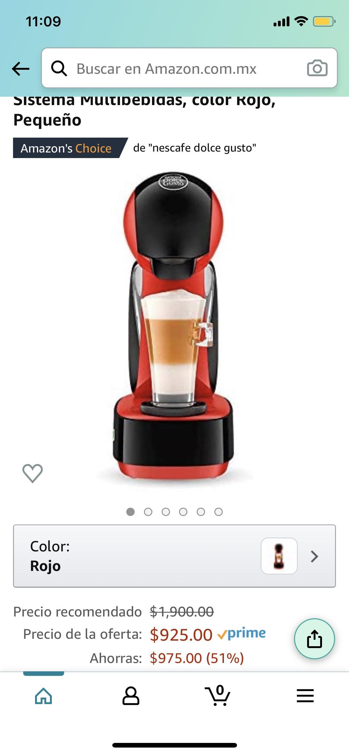 Amazon: Cafetera Dolce Gusto infinissima