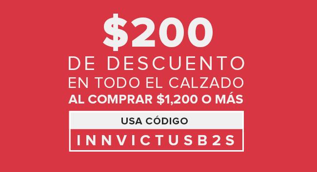 Innvictus online: $200 de descuento en calzado al comprar $1, 200 o más