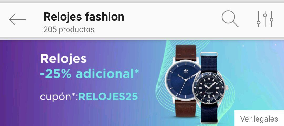 Linio: Relojes fashion 25% de descuento