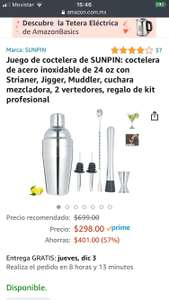 Amazon: Coctelera Acero Inox