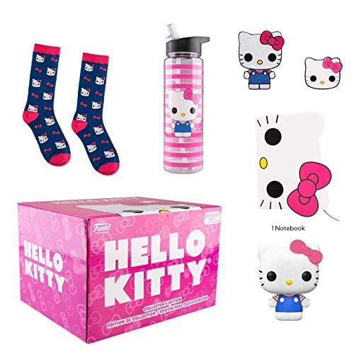 Amazon: Funko Hello Kitty - 45 cumpleaños con Figura de Vinilo y Cuaderno de Notas de Pop!, Parche, Pin, Calcetines y Botella de Agua