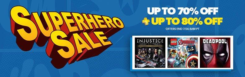 Playstation Network - Super Hero Sale , juegos con hasta 80% de descuento