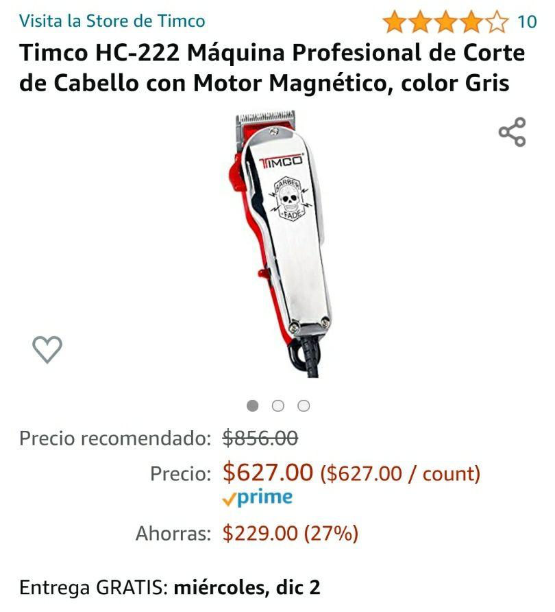 Amazon: Máquina profesional de Corte de Cabello Timco