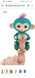 Amazon: Fingerlings Glitter Monkey - Quincy (Amazon.com Exclusive) - Teal Glitter - Interactive Baby Pet - By WowWee