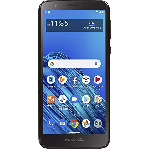 Amazon Motorola Moto E6 4G LTE Smartphone Bloqueado por Total Wireless – Negro – 16 GB – Tarjeta SIM incluida – CDMA