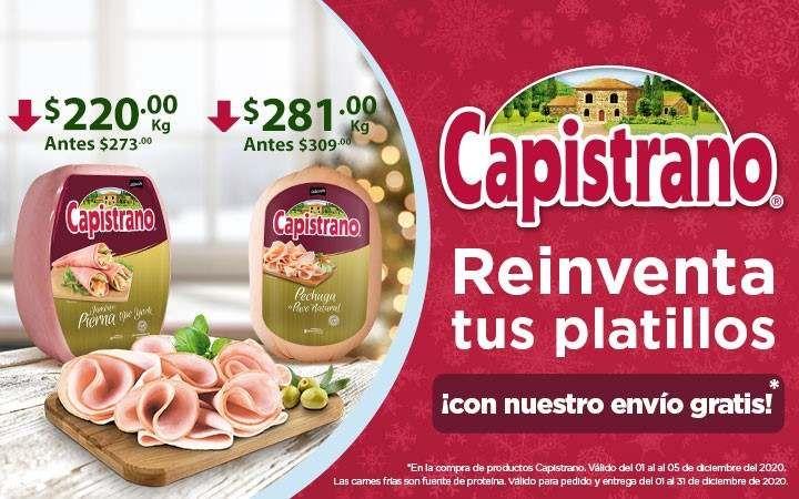 Chedraui: Envío gratis de super en la compra de productos Capistrano