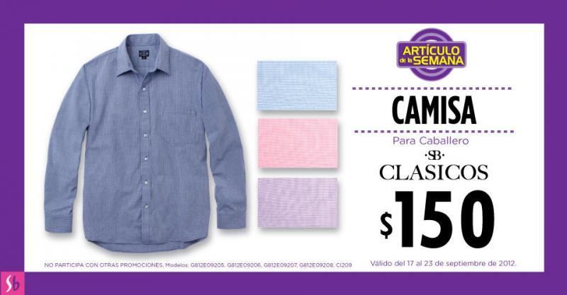 Artículo de la semana en Suburbia: camisa para caballero a $150