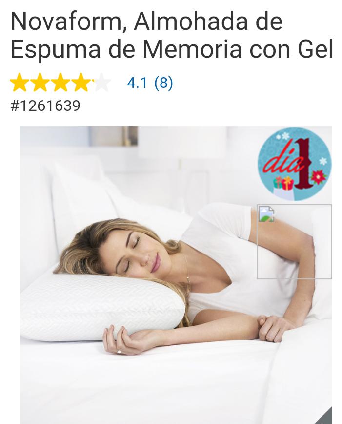 Costco Novaform, Almohada de Espuma de Memoria con Gel