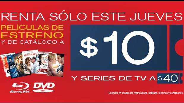 Jueves de rentas a $10 en Blockbuster