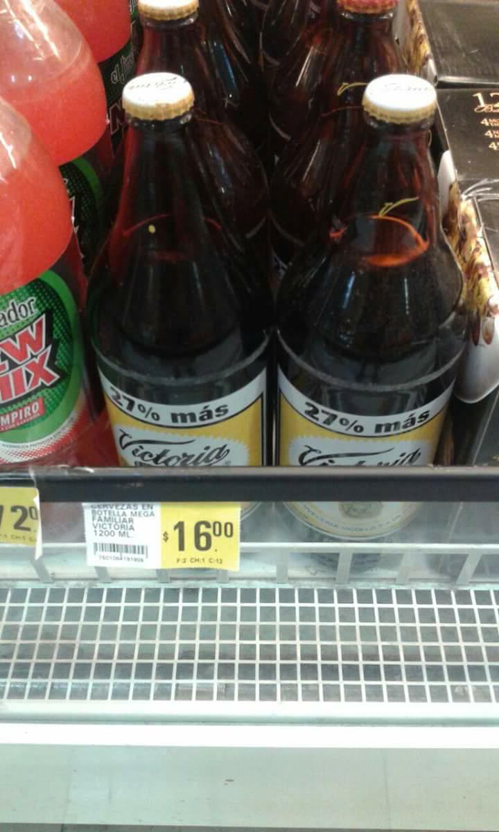 Soriana: cerveza tamaño familiar Victoria 1200ml a $16