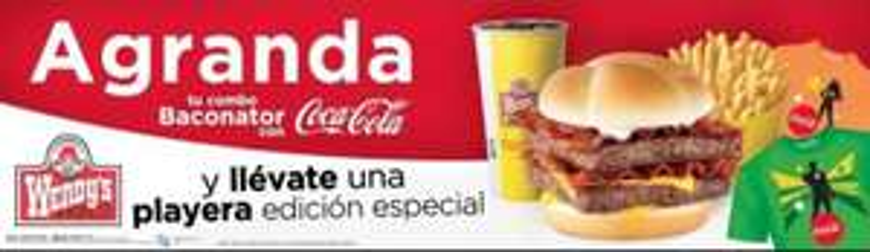Wendy's: playera gratis al agrandar combo Baconator