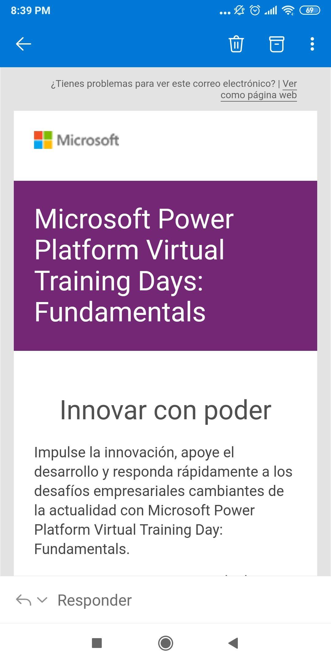 Microsoft: Power Platform Virtual Training con voucher