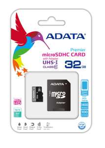 Amazon: Memoria micro SD Clase 10 de 32GB con adaptador a $144