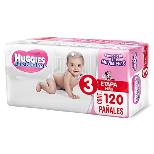 Amazon: Huggies UltraConfort Pañal Desechable para Bebé, Etapa 3, Niña, Caja con 120 Piezas