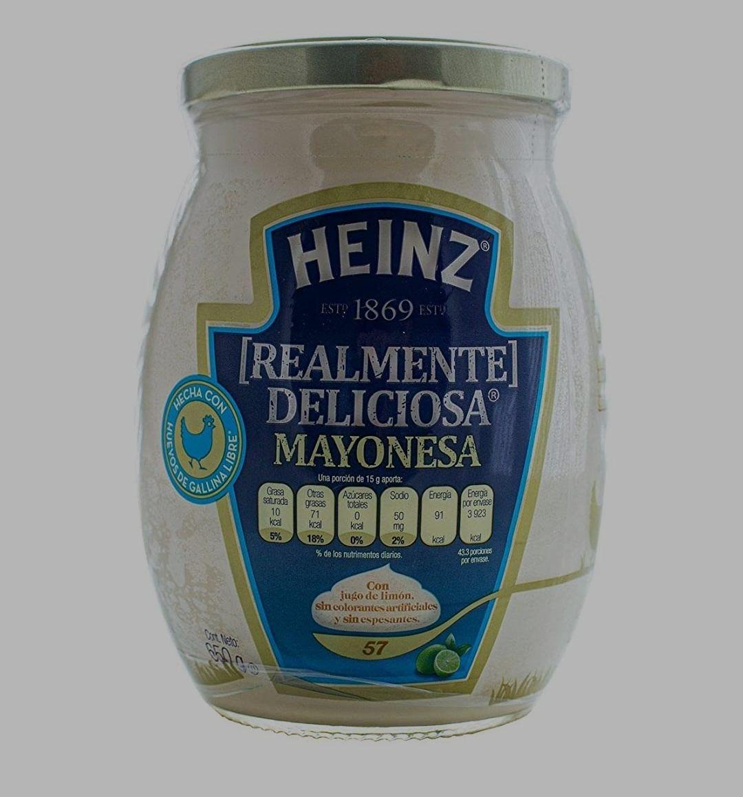 Amazon: Mayonesa Heinz con Jugo de limón, 650 g