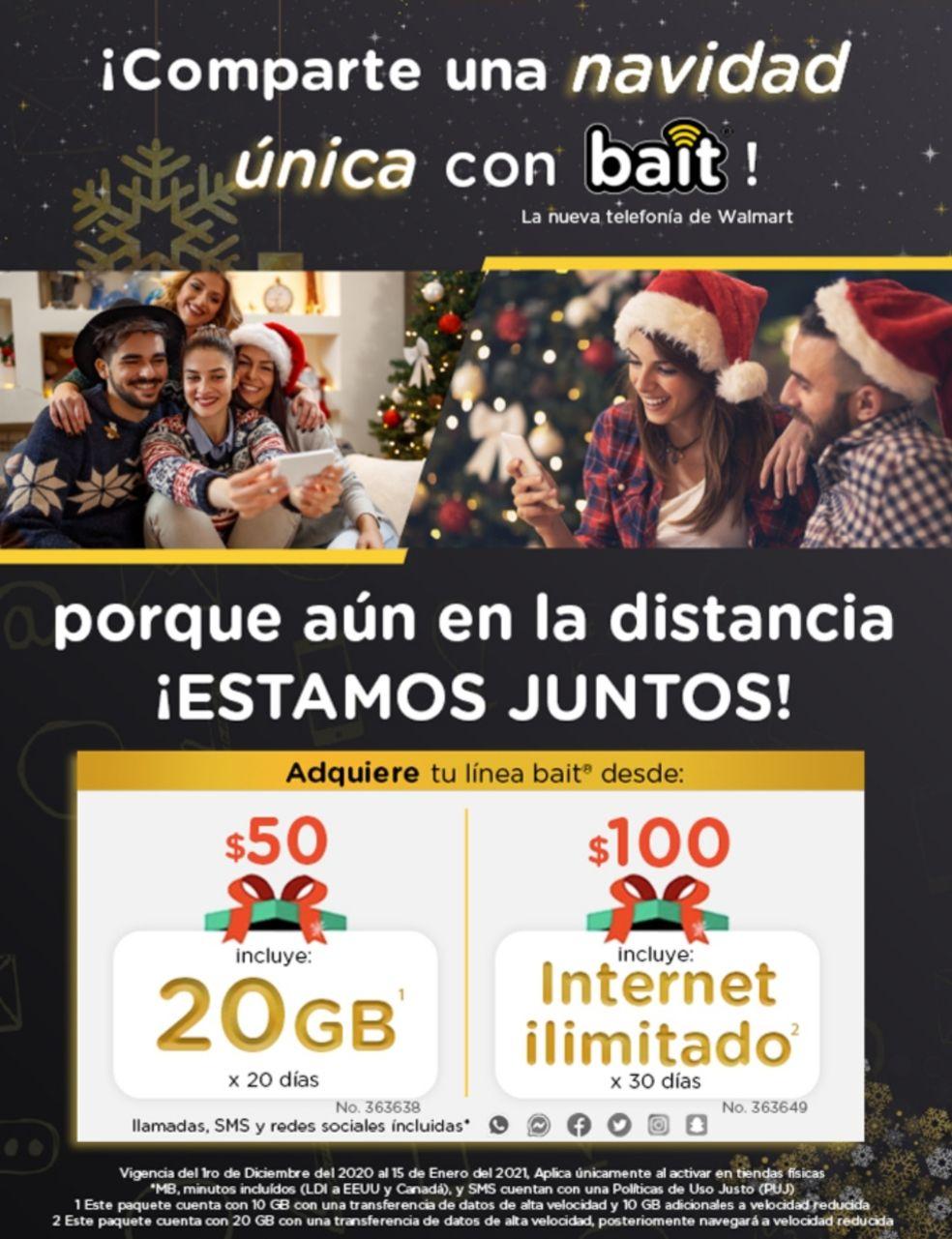 Bait 100 x 30 días Internet Ilimitado.
