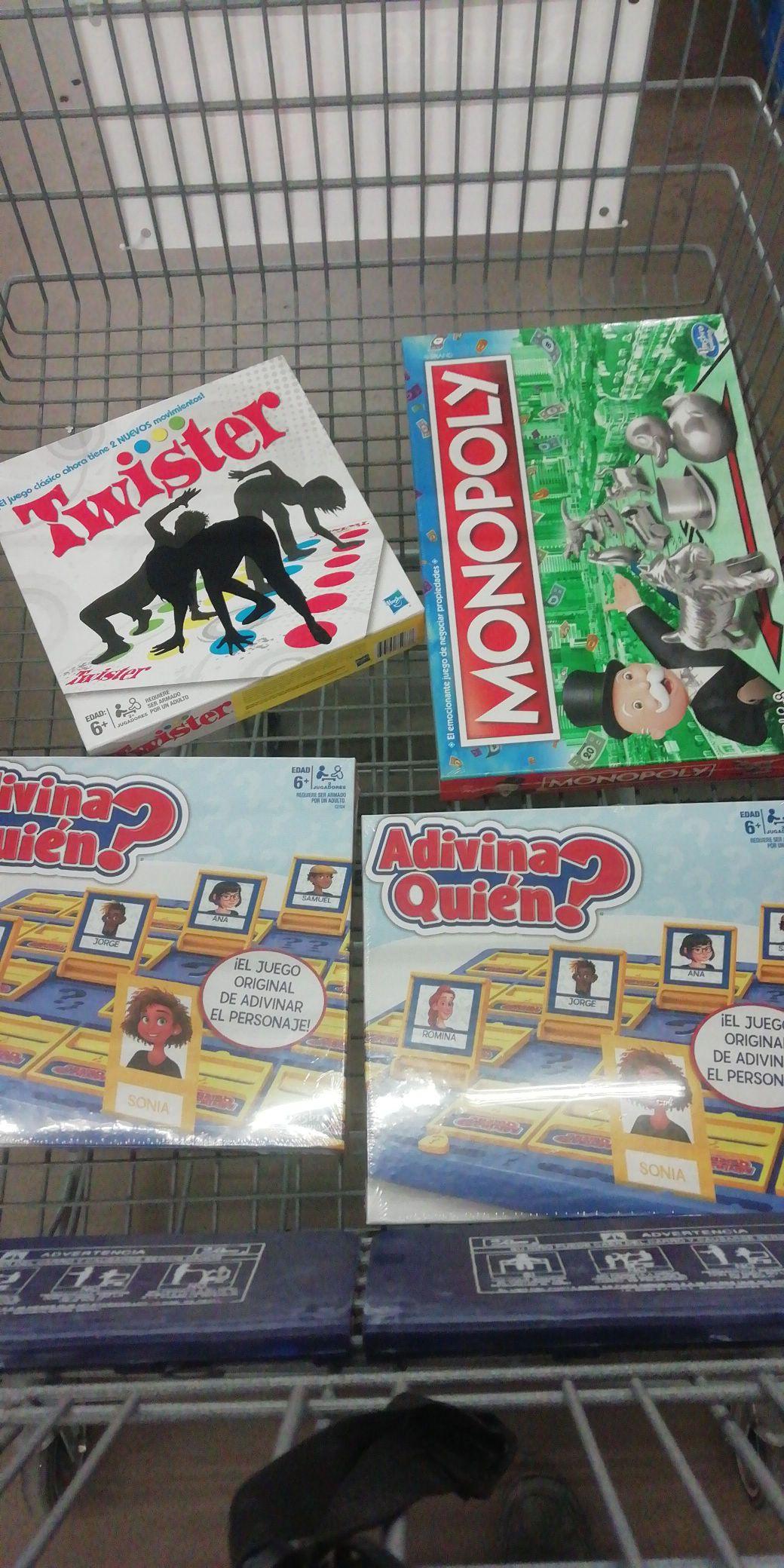 Sam's Club: Monopoly clásico, twister y adivina quién león gto.