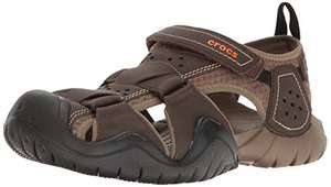 Amazon: Crocs Swiftwater Fisherman para hombre | Material: cuero | Talla: 28 cm