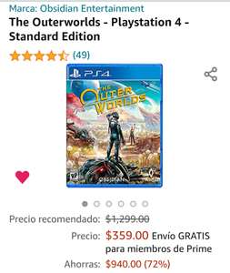 Amazon : The Outerworlds - Playstation 4 - Standard Edition