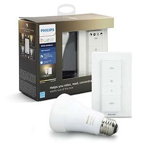 Amazon: Philips Hue LED starter pack, 1 lámpara ambience + Dimmer
