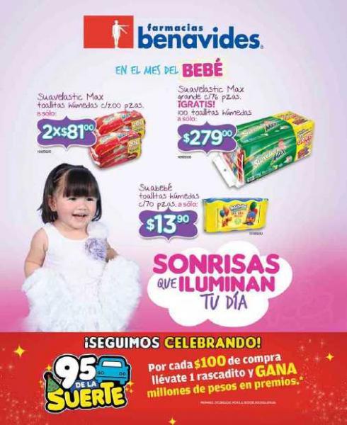 Folleto Farmacias Benavides: 3x2 en Kotex, Always, desodorantes Axe, Dove, jugos Gerber y más