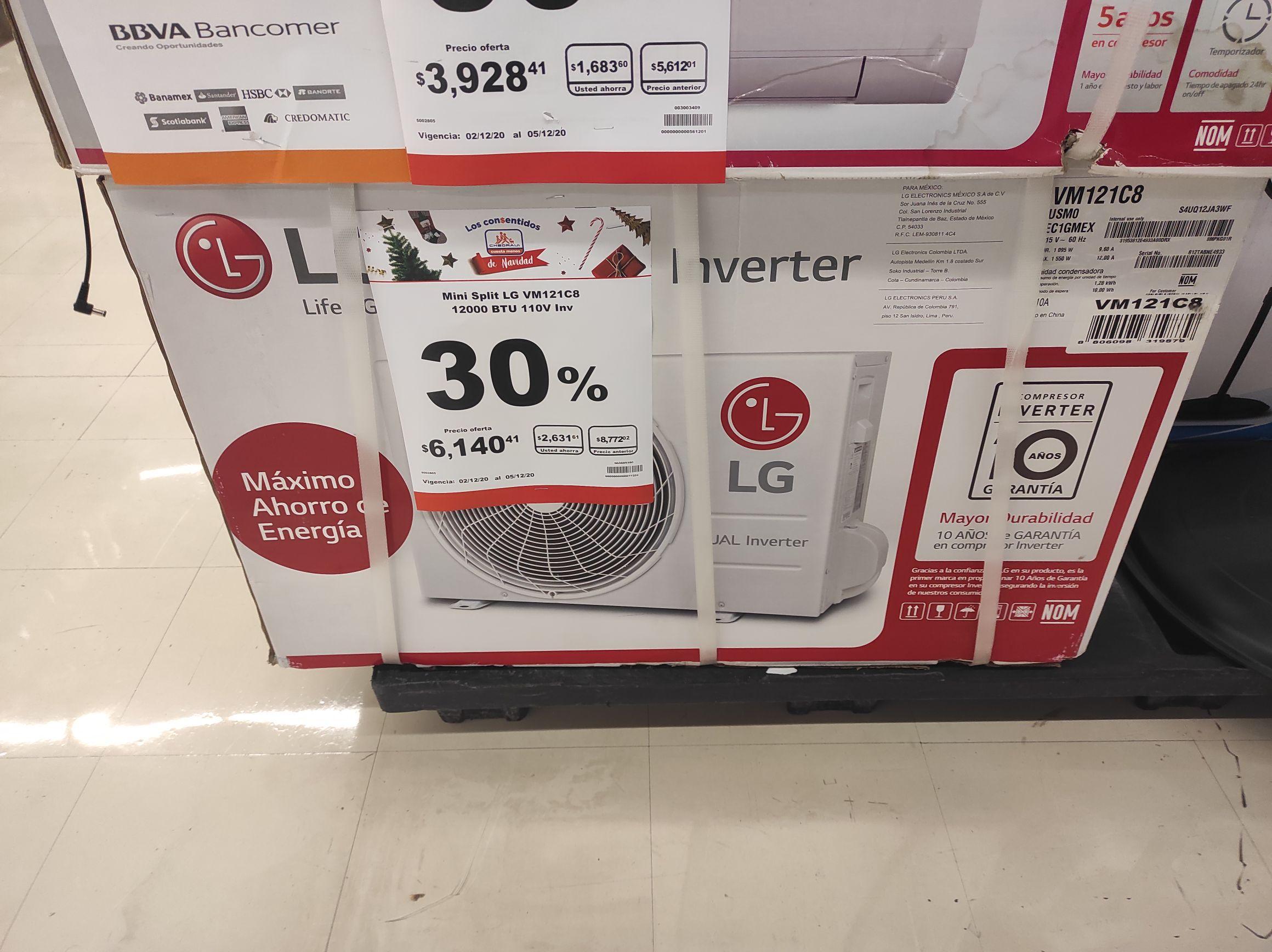 Chedraui: Minisplit LG dual inverter VM121C8