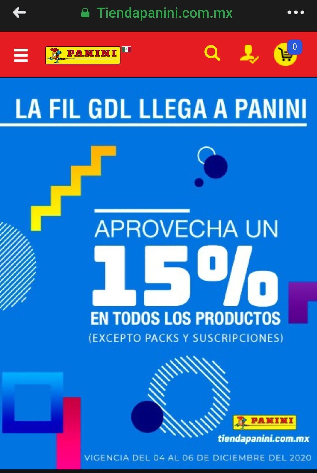 Panini: Descuento de 15% en mangas (para la cole)