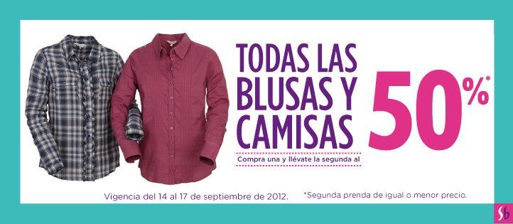 Suburbia: 2 x 1 y medio en blusas y camisas