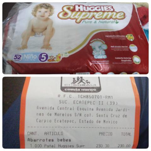 Chedraui Palomas: pañales huggies suprime etapa 3, 4 y 5 con 52pz.
