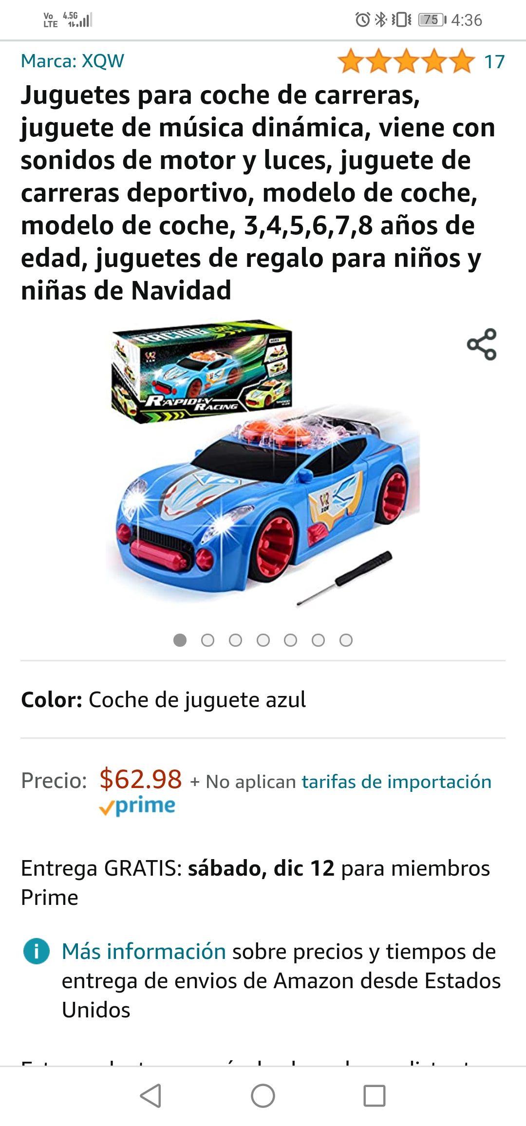 Amazon: carrito de juguete tuneado con sonido incluido (regalo de navidad para la bendi)