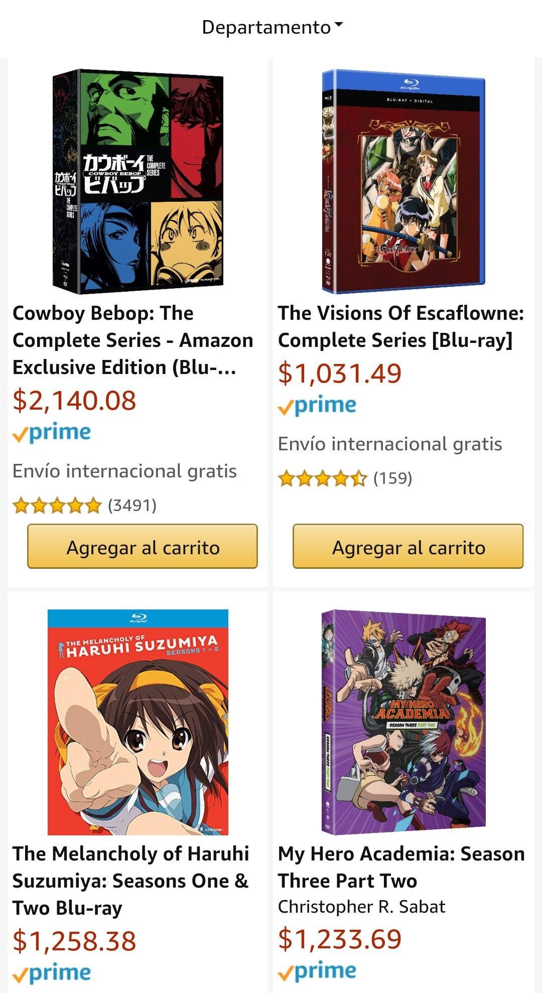 Amazon: 18% de descuento en películas y series de anime