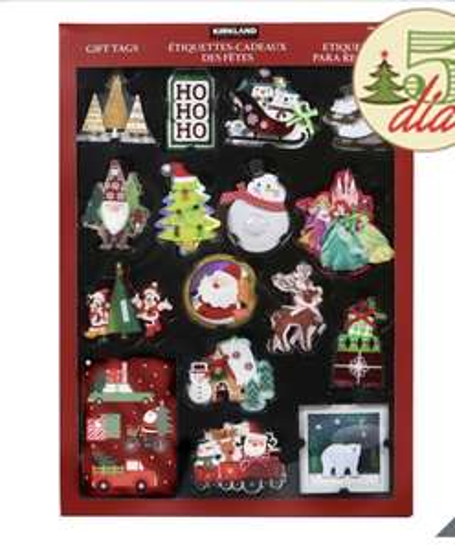 Costco: 84 etiquetas navideñas