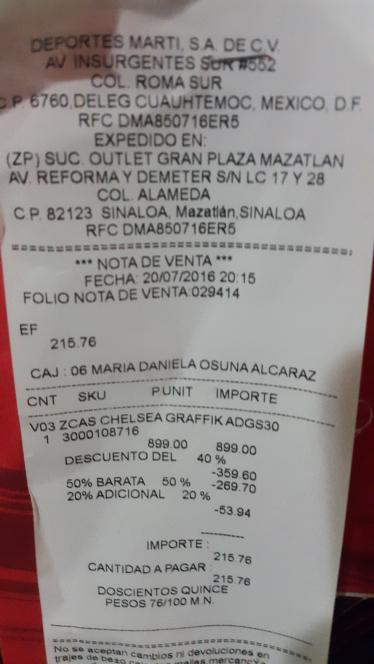 Martí: tenis DG para niña de $899 a $216