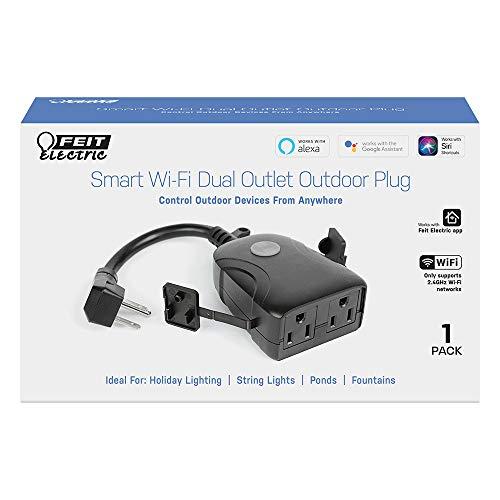 Amazon: Smart Plug / Enchufe inteligente Veit para EXTERIORES | 2 salidas | Alexa-Google-Siri | Wifi 2.4 GHz