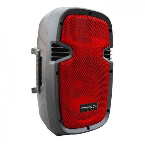 "Chedrahui Metepec tienda en línea: Bafle 8"" PowerCo XP-8000RD Bluetho Rojo a $995"